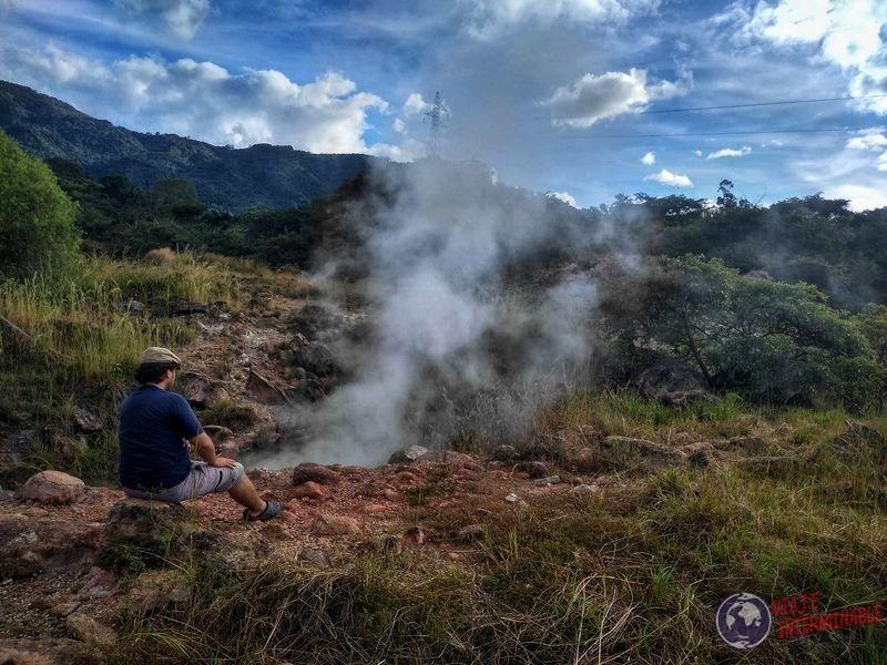 Humo azufre Wa El Salvador