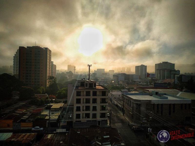 Mañana Vista más nítida de ciudad de Guatemala