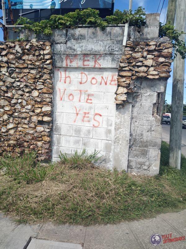 Belice Ciudad Belize City Referendum Belize Guatemala Grafiti