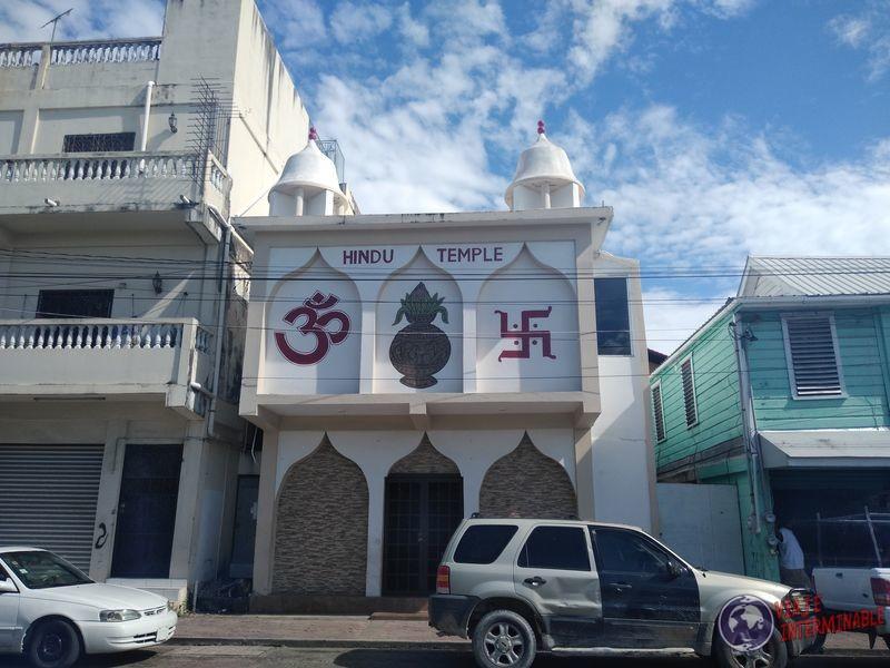 Belice Ciudad Belize City Templo Hindu