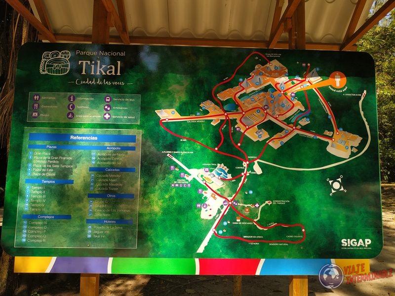 Cartel Tikal Mapa Templos