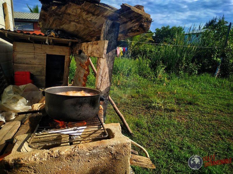 Rice and beans en el Ghetto Belize City