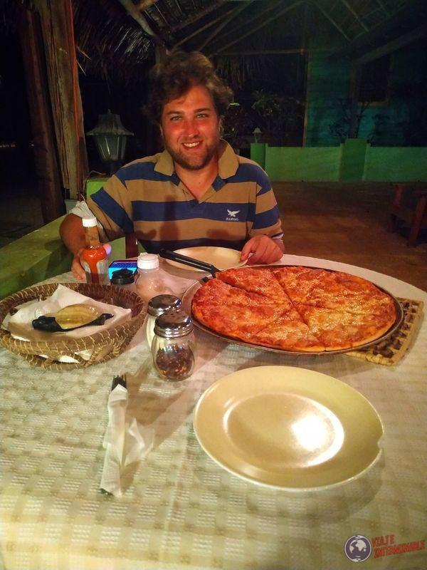 Belice Pizza en Lost Reef Resort