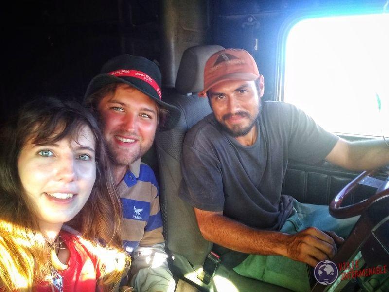 Camionero Autostop Belice Mochileros Uruguayos