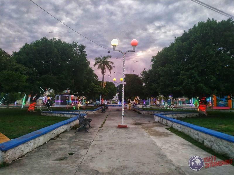Plaza en Corozal Belize