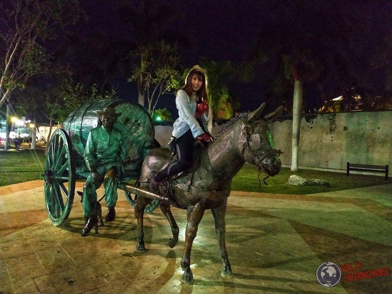 Estatua del aguatero Campeche