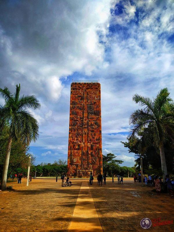 Monolito de zoológico de Merida Mexico