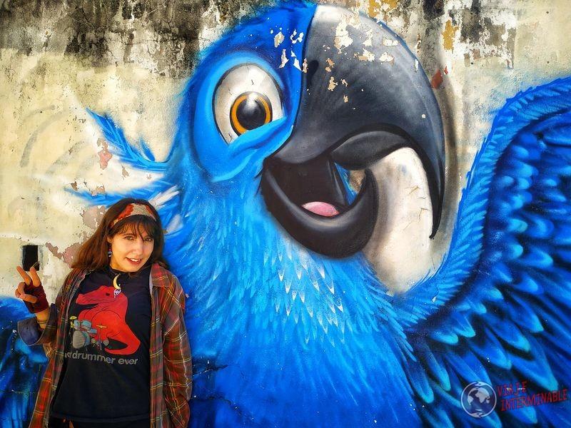 Posando con loro Río grafiti Mexico
