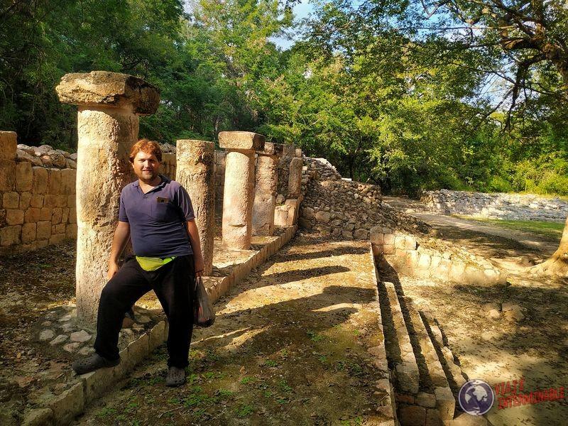Ruinas de Edzná columnas Campeche
