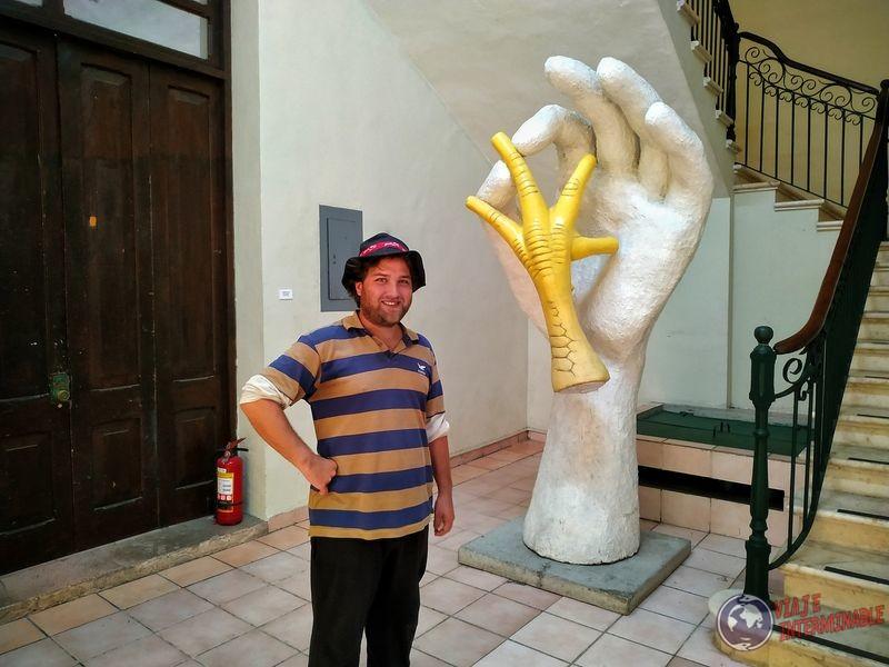 Wa en museo Merida pata de pollo Mexico