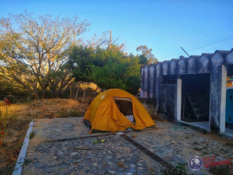 Acampando en Rizo de Oro Mexico