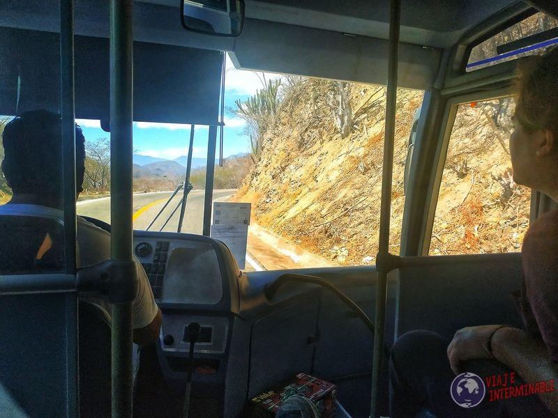 Llegando a Oaxaca en bus gratis Mexico