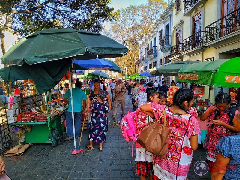 Calles y ferias en Oaxaca Mexico