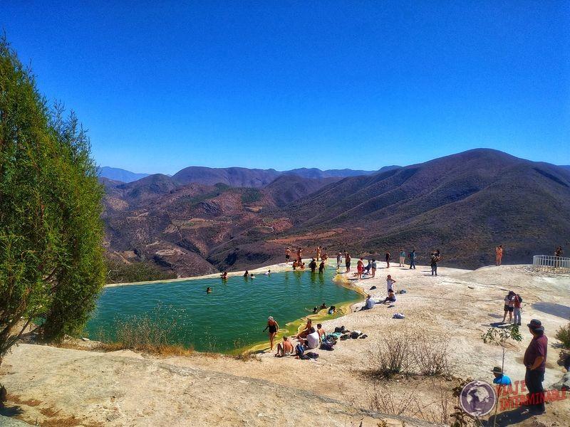 Hierve el Agua parque de las cataratas petrificadas Mexico