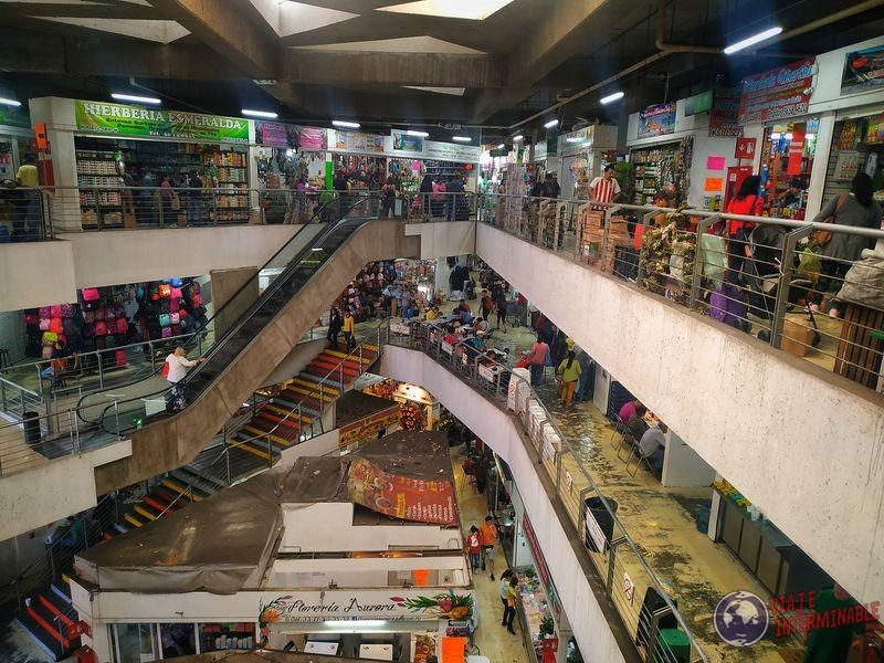 Mercado Corona escaleras mecanicas Guadalajara Mexico