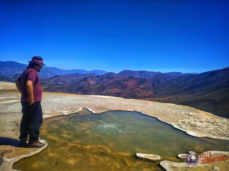 Ojos de agua manantial Hierve el Agua Mexico