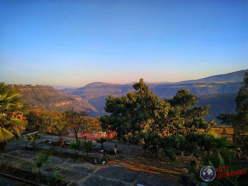 Vista desde casa cañon de Guadalajara Mexico
