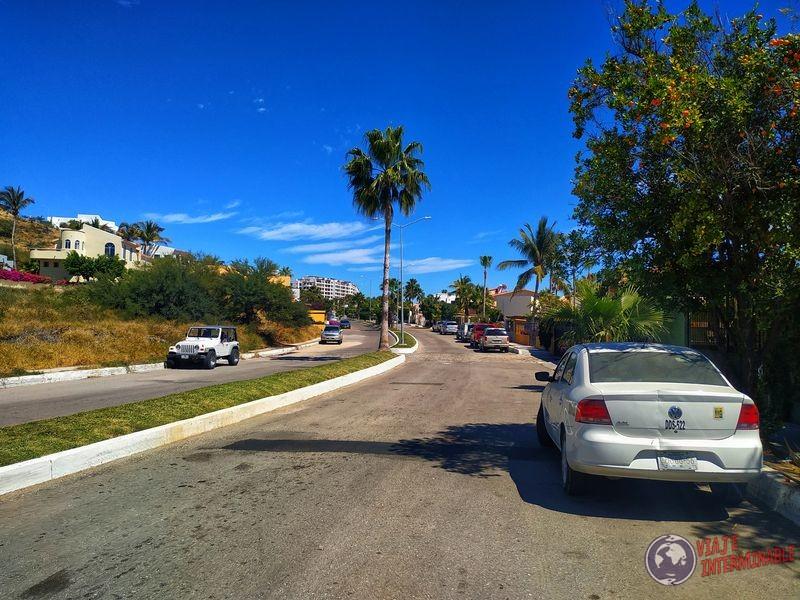 Calles barrio yankee en San José del Cabo Baja California