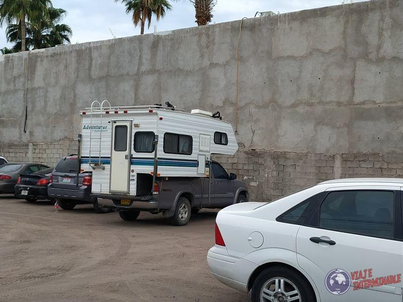 Camper en camioneta Loreto Baja California Sur Mexico