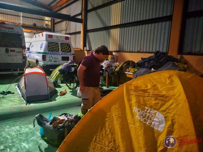 Acampando bomberos Guerrero Negro Baja California Mexico