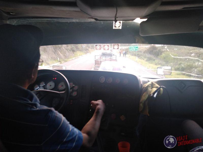 Camion autostop hacia Ensenada Mexico
