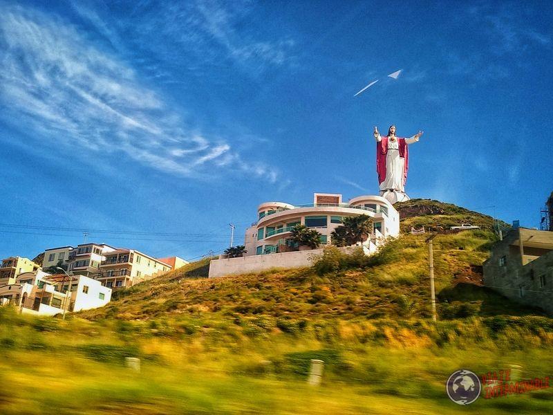 Jesús camino a Tijuana Baja California Mexico