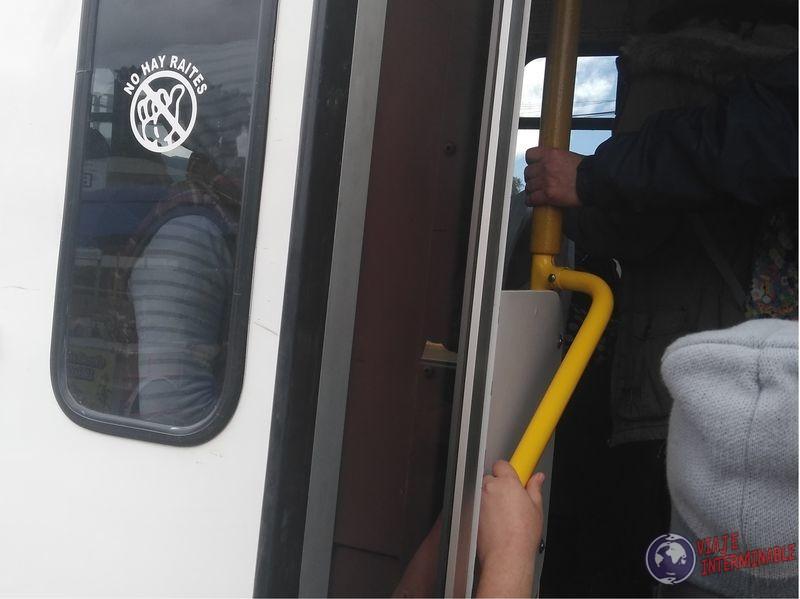 Prohibido pedir rite dedo Autostop Ensenada Baja California Mexico