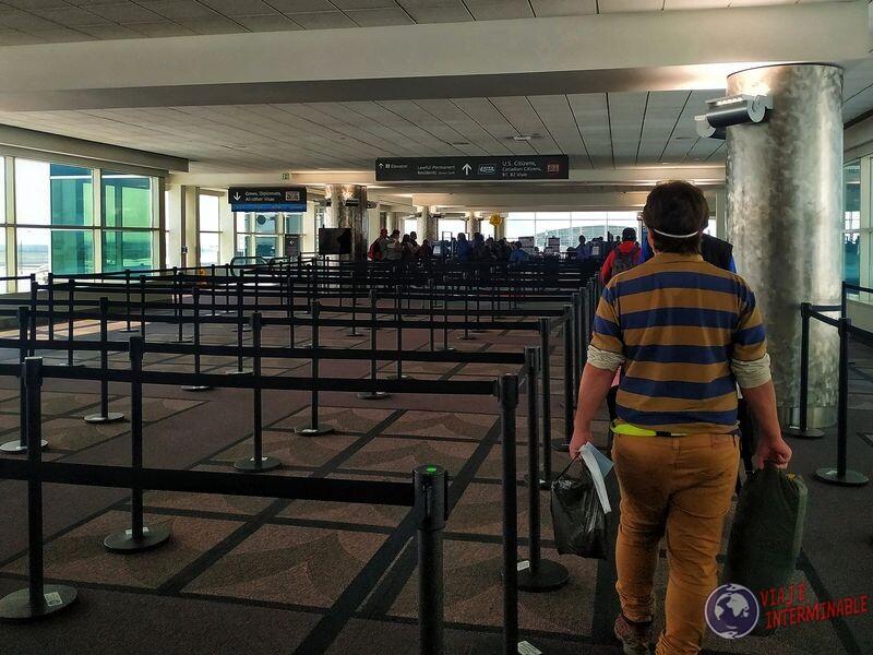Llegando a EEUU aeropuerto de Denver