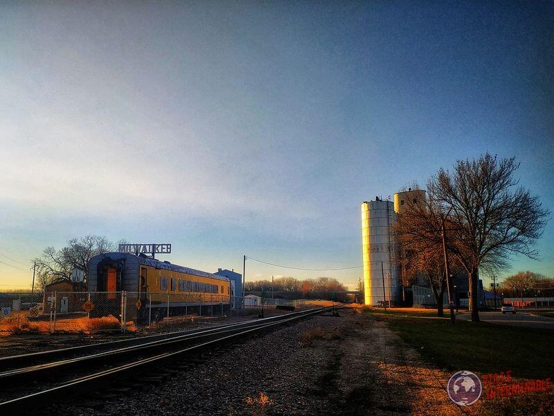 Milwaukee Road Train Montevideo Minnesota EEUU