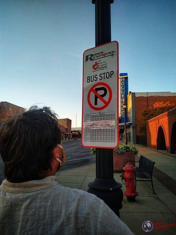 Parada de buses de Montevideo Minnesota EEUU