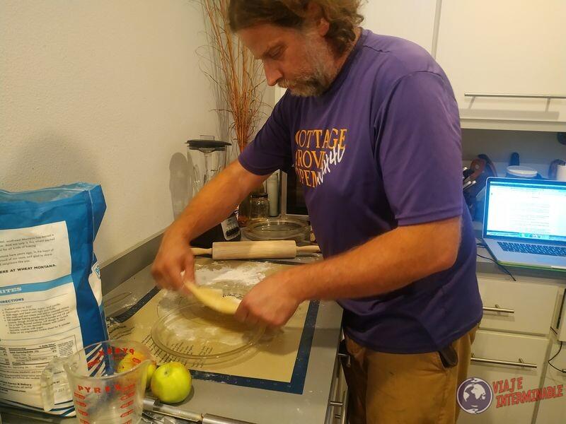 Marc cocinando pay de manzana montevideo minnesota eeuu