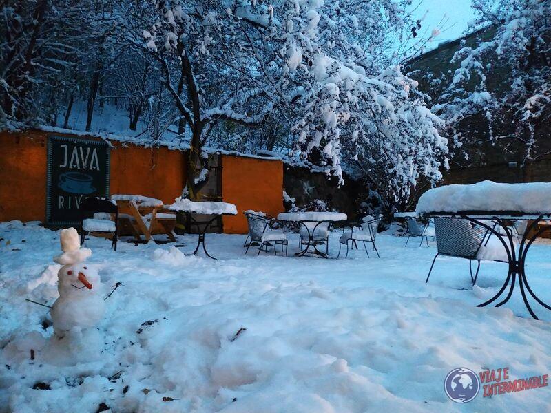Muñeco de nieve en Montevideo Minnesota