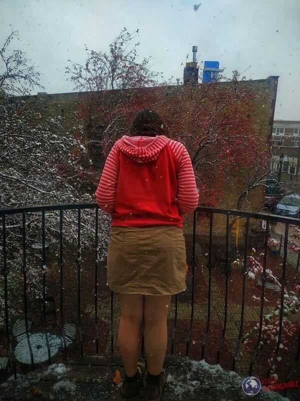 Nevando en Montevideo Minnesota EEUU