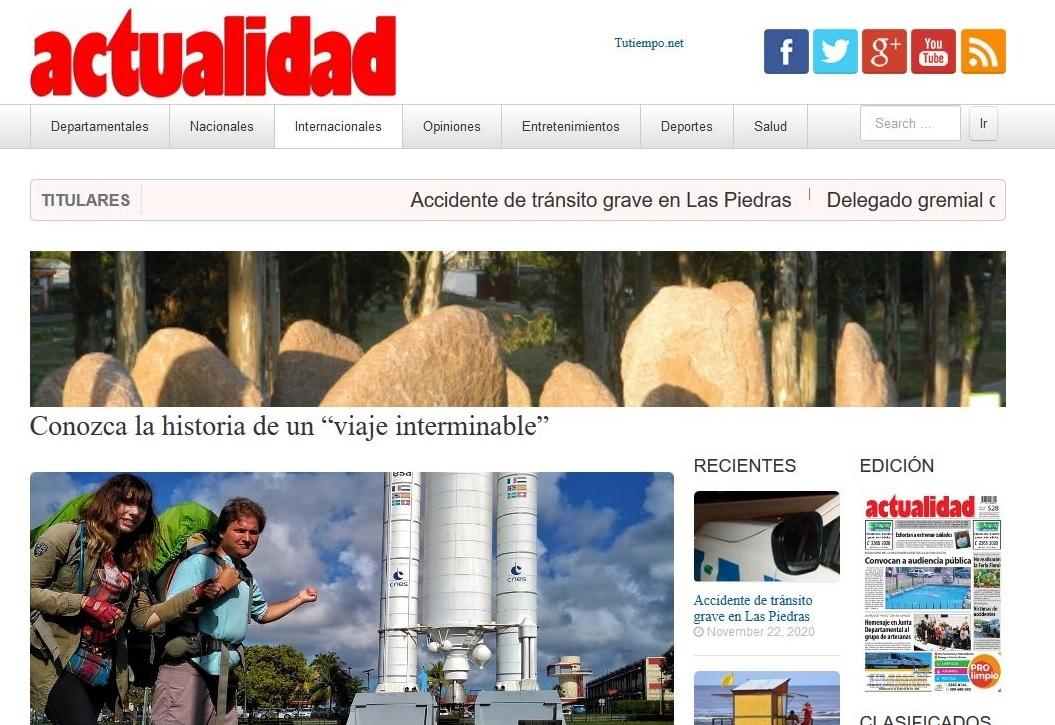 Prensa Actualidad Portal web viajeinterminable.com