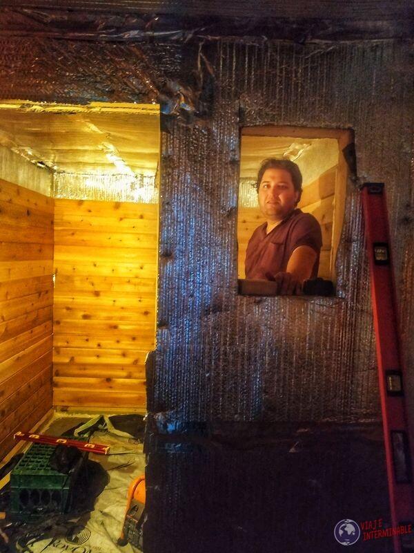 Wa en sauna en construcción Montevideo Minnesota EEUU