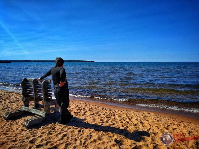 Lago Cornucopia Wa apoyado banco EEUU USA