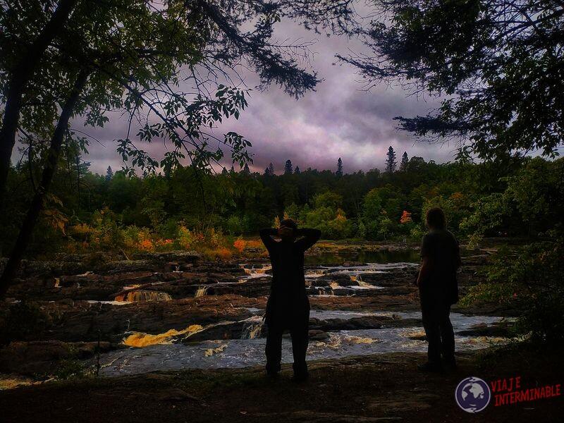 Parque nacional paisaje rapidos rocas EEUU USA