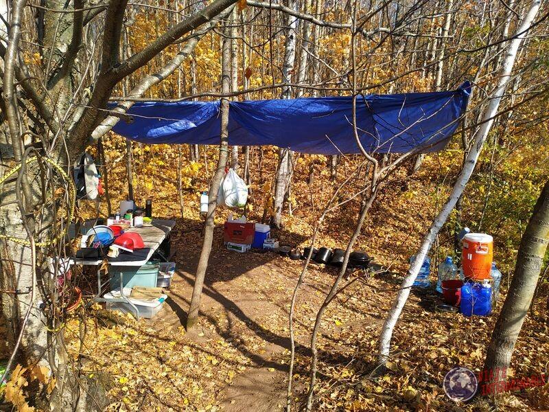 Cocina del camping propiedad Winsconsin EEUU USA