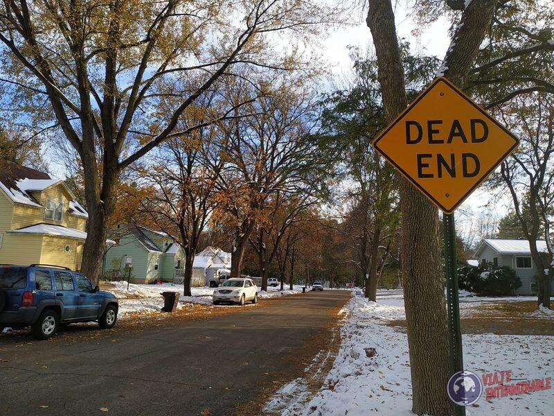 Dead end señal Montevideo Minnesota EEUU USA