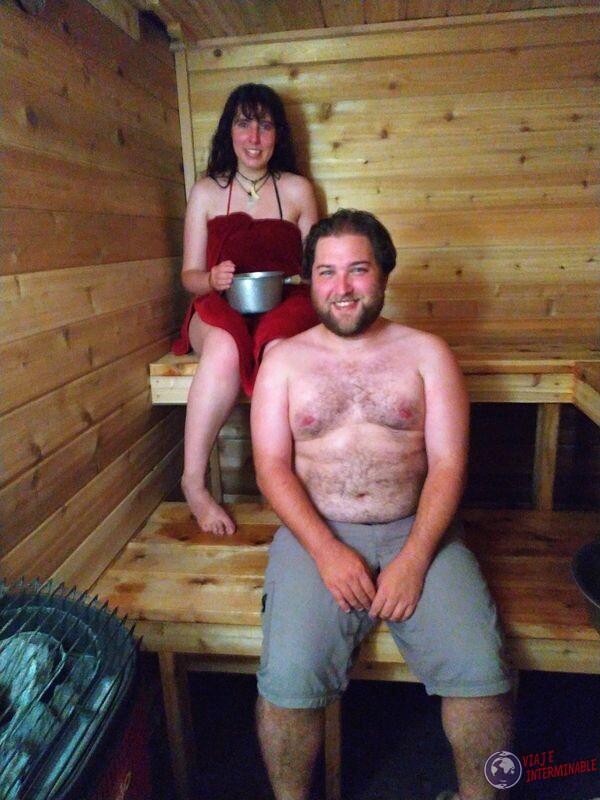 Felices en el sauna Minnesota EEUU