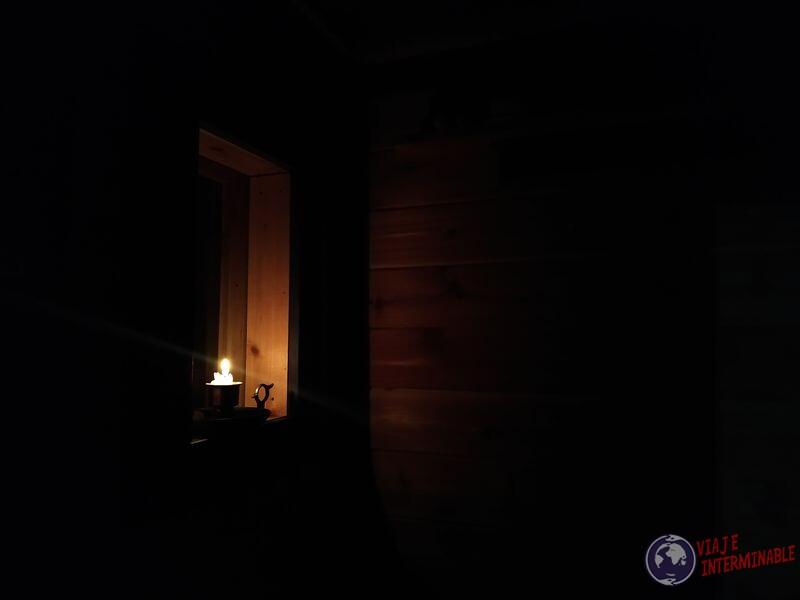Iluminacion dentro del sauna Minnesota EEUU
