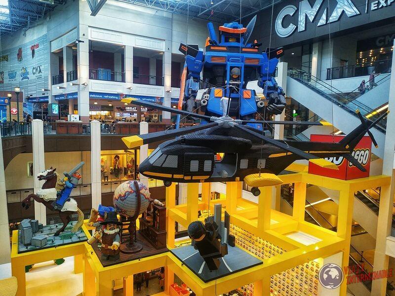 Estatuas de lego shopping Mall of America Minneapolis EEUU