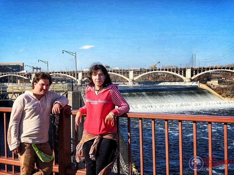 Represa Arch bridge puente peatonal minneapolis minnesota EEUU